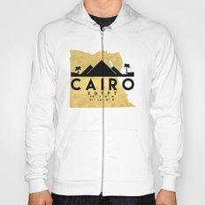 CAIRO EGYPT SILHOUETTE SKYLINE MAP ART Hoody