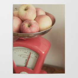 Apples In Scales Still Life Poster