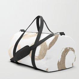 Luxe Gold City Dot Circles Duffle Bag
