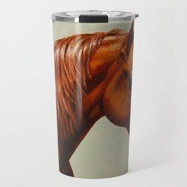 Chestnut Morgan Horse Travel Mug