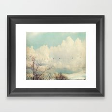 Beyond The Blue Framed Art Print