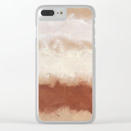 Rothko Inspired Spiced Berry Canyon Dusk 001 Mixed Stripe Modern Art Comforter Pillow #society6 Clear iPhone Case