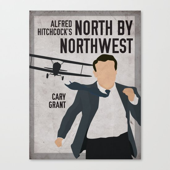 Alfred Hitchcock's North By Northwest Movie Print Canvas Print