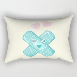 Pastel Happy Plaster Rectangular Pillow
