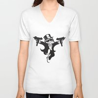guns V-neck T-shirts featuring Monopoly / Guns by tshirtsz