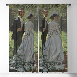 Bazille and Camille painting by Claude Monet Blackout Curtain