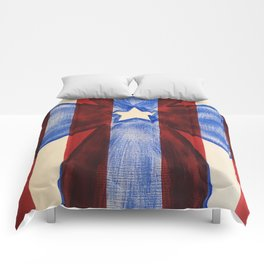 America Red White Blue Cross Comforters