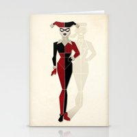 harley quinn Stationery Cards featuring Harley Quinn by Lily's Factory