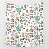 notebook Wall Tapestries featuring Just things by BlueLela