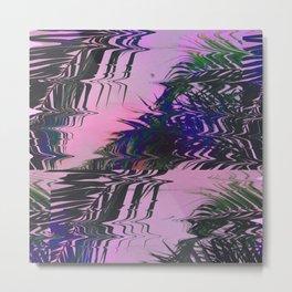 Glitchy Palm Metal Print