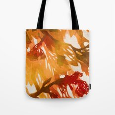 Morning Blossoms 2 - Red Variation Tote Bag