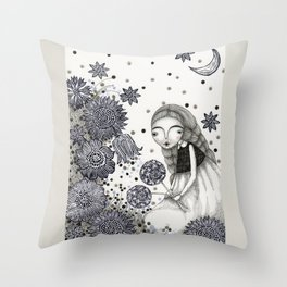 Summer's Night Throw Pillow