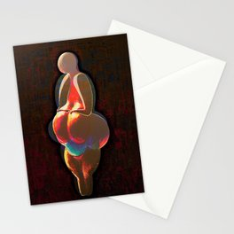 Echoes from the past, Venus of Lespugue, that go to the future, Version by Menchulica Stationery Cards