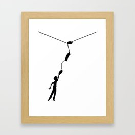 Hooked on the music note Framed Art Print