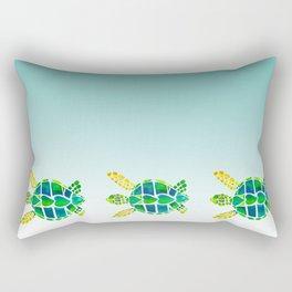 Swimming Baby Sea Turtles Rectangular Pillow