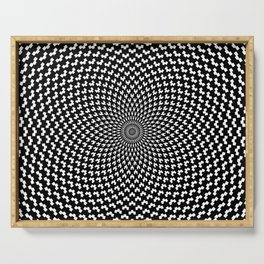 Illusion of Choice Hypnotic Pattern Serving Tray
