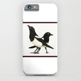 Two For Joy - Magpie Pair iPhone Case