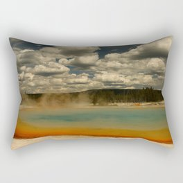Sunset Lake Under A Cloudy Sky Rectangular Pillow