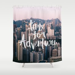 Time for Adventure - Hong Kong Shower Curtain