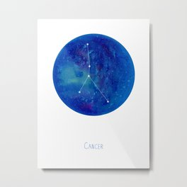 Constellation Cancer Metal Print