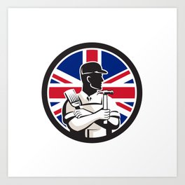 British DIY Expert Union Jack Flag Icon Art Print