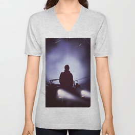 Vintage 80s car poster - the equalizer. Unisex V-Neck