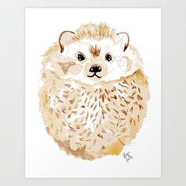 Hedgehog Watercolor Art Print