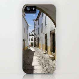 Marvao cobbled street iPhone Case