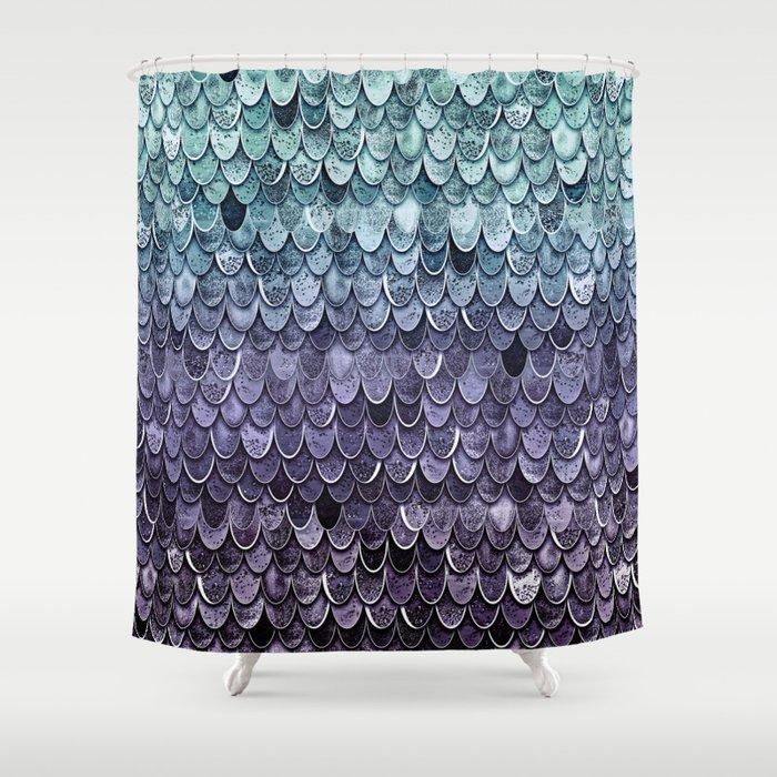 MAGIC MERMAID - MYSTIC TEAL-PURPLE Shower Curtain