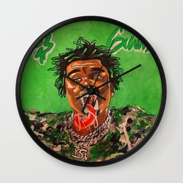 gunna,ds3,drip season 3,rapper,album,poster,wall art,fan art,music,hiphop,rap,rapper Wall Clock