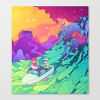 ponyo Canvas Prints featuring Ponyo by Jen Bartel
