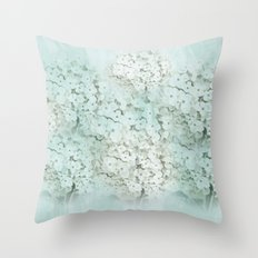 SHADY HYDRANGEAS Throw Pillow