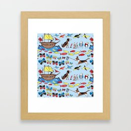 The Voyage of the Beagle Framed Art Print