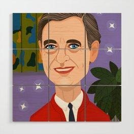 Mr. Rogers Wood Wall Art