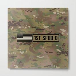 1st SFOD-D (Camo) Metal Print