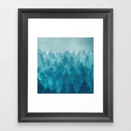 Misty Pine Forest 2 Framed Art Print