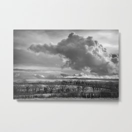 Towering Clouds Over Wiltshire Metal Print