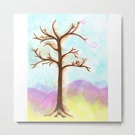 Tree Aura Metal Print