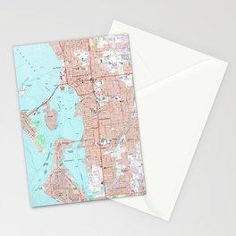 Vintage Map of Sarasota Florida (1973) Stationery Cards