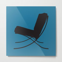 Barcelona Chair silhouette  Metal Print