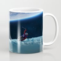snowboard Mugs featuring Skiing by Cs025