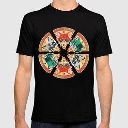 Pizza Slice Cats  T-shirt
