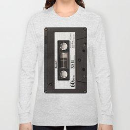 Cassette Tape Black And White #decor #society6 #buyart Long Sleeve T-shirt