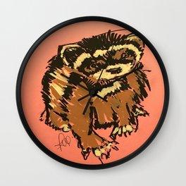 Itty the ferret boy Wall Clock