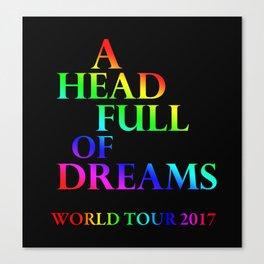 A head full of dreams Canvas Print