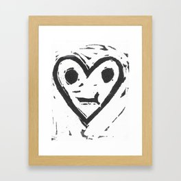 :-/ Heart Framed Art Print