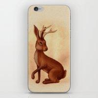 jackalope iPhone & iPod Skins featuring Jackalope by Sarah DC