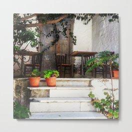 A quiet doorway in Naxos Metal Print
