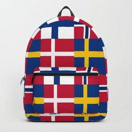 Flags of scandinavia2: finland, denmark,swede,norway Backpack