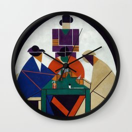 Theo van Doesburg - Card players Wall Clock